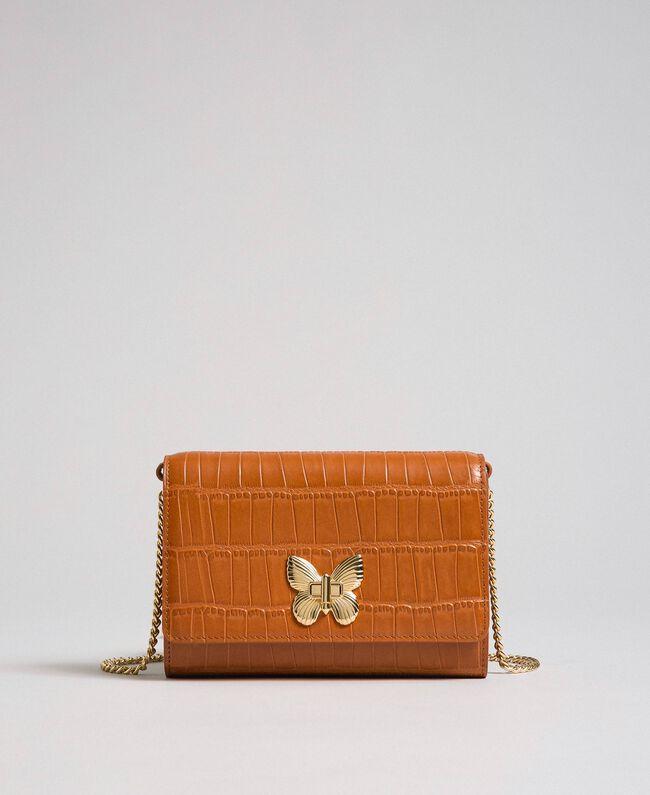 Petit sac à bandoulière en cuir imprimé Cuir Femme 192TO8043-01