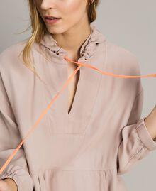Crêpe sweatshirt with maxi pocket Delicate Pink Woman 191LL23AA-04