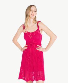 "Crochet dress ""Voluptuous"" Pink Woman MS8HBB-05"