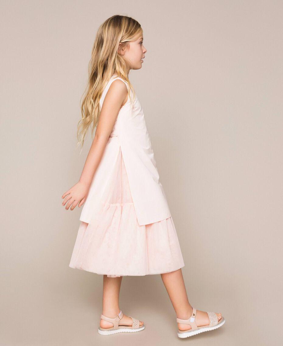 Taffeta and tulle dress Bud Pink Child 201GJ2Q20-03