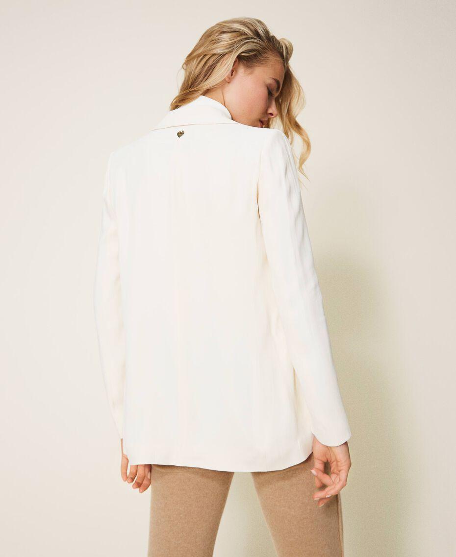 Floaty crêpe blazer Creamy White Woman 202TP2100-03