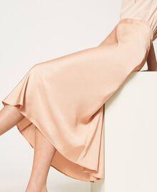 """Jupe longue en satin Beige """"Nude"""" Femme 202MP2370-05"""
