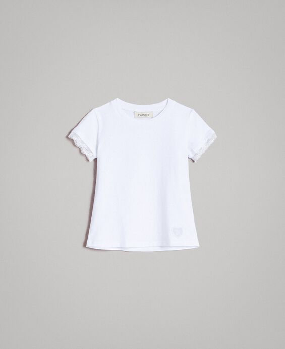 Jersey T-shirt with lace