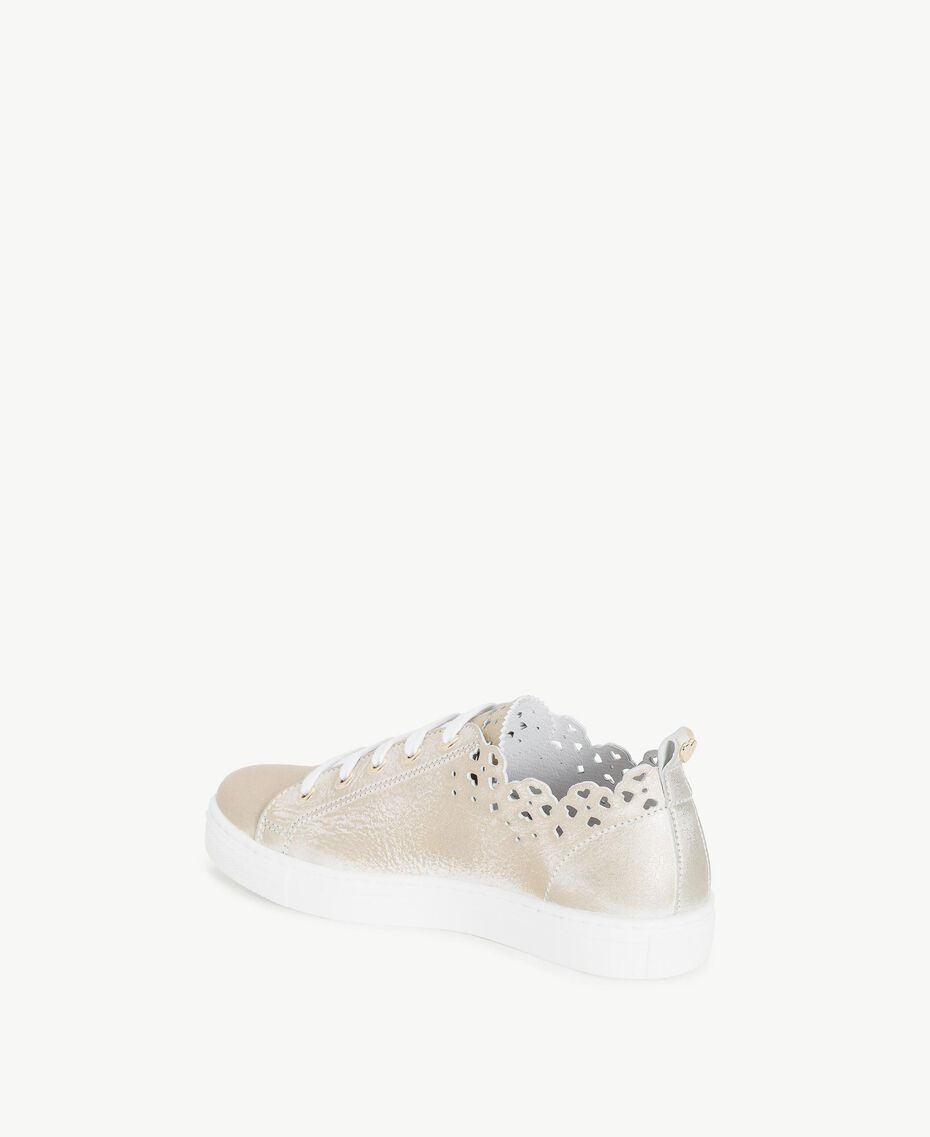 Scalloped sneakers Platinum Child HS88CQ-03