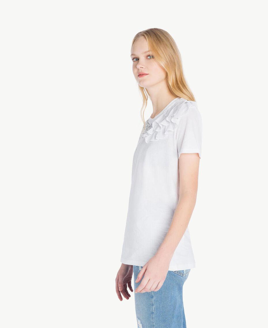 Ruched T-shirt White Woman JS82RS-02