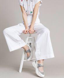 Кроссовки с камнями Сливочный White женщина 191MCP03C-0S