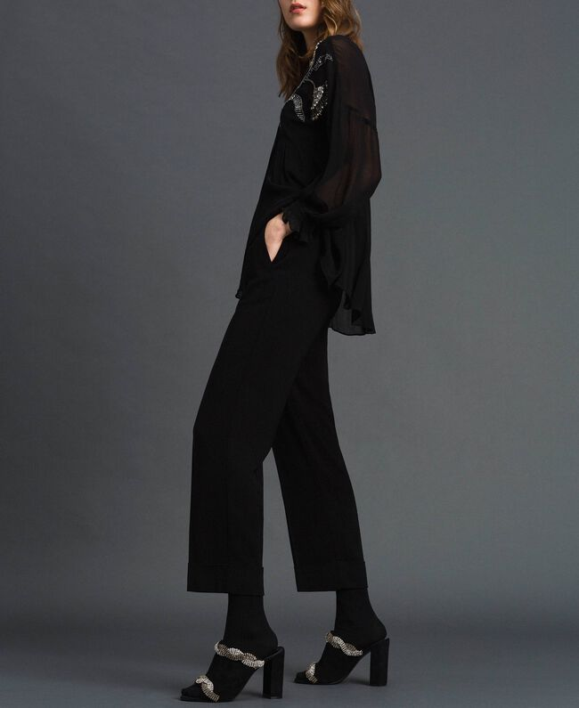 Georgette trousers Black Woman 192TP2387-01