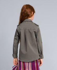 Chemise en coton avec paillettes Olive Enfant GA827Q-03