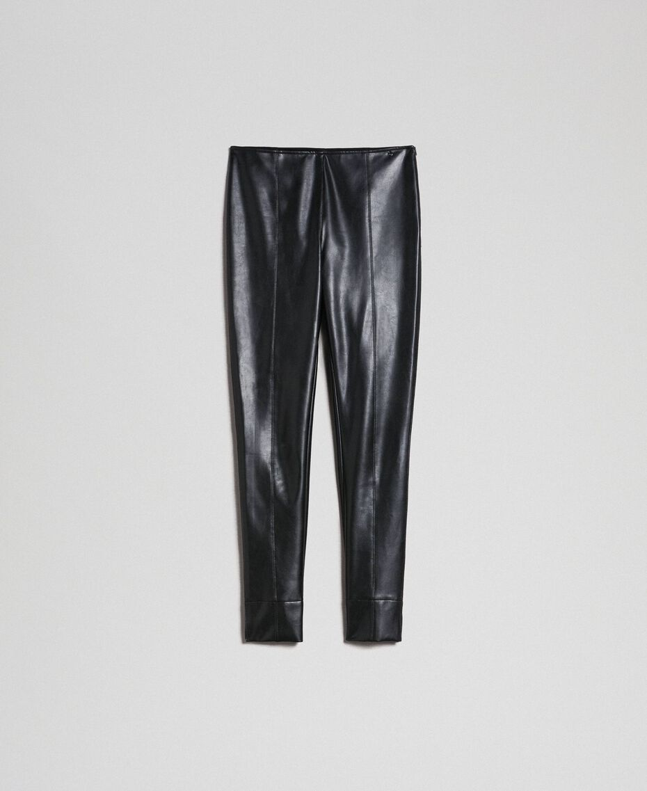Leggings in similpelle Nero Donna 192TP2061-0S