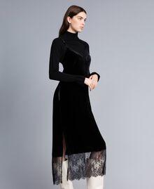 Long velvet dress Black Woman TA826N-02