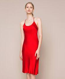 Unterkleid aus Satin Granatapfel Frau 201LL23YY-02