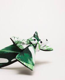 Ободок для волос с принтом и бантом Принт Тропический Горошек Зеленый / Черный Pебенок 201GJ4306-02