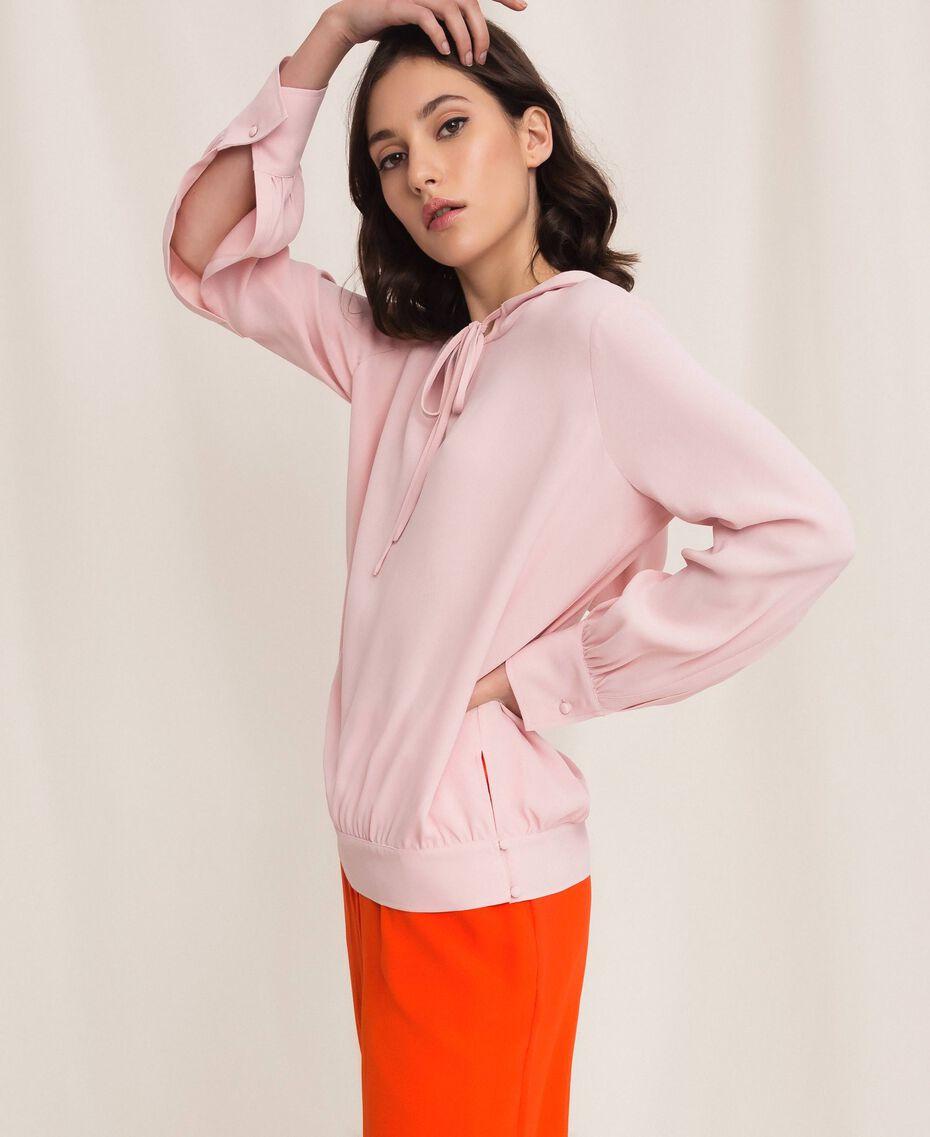 Georgette hoodie Moonlight Beige Woman 201LL2NFF-03