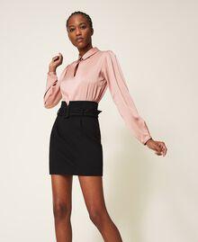 """Robe bicolore avec jupe fourreau Bicolore Noir / Rose """"Vintage"""" Femme 202ST2027-03"""