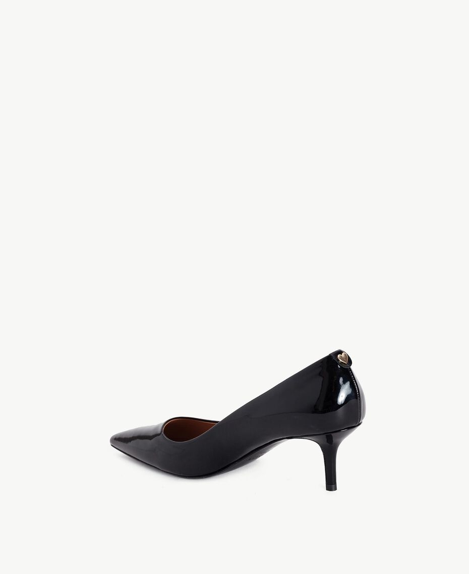 TWINSET Patent leather court shoes Black Female CA7PLY-03