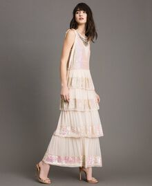 Georgette sequin long dress Bud Pink Woman 191TP2580-02