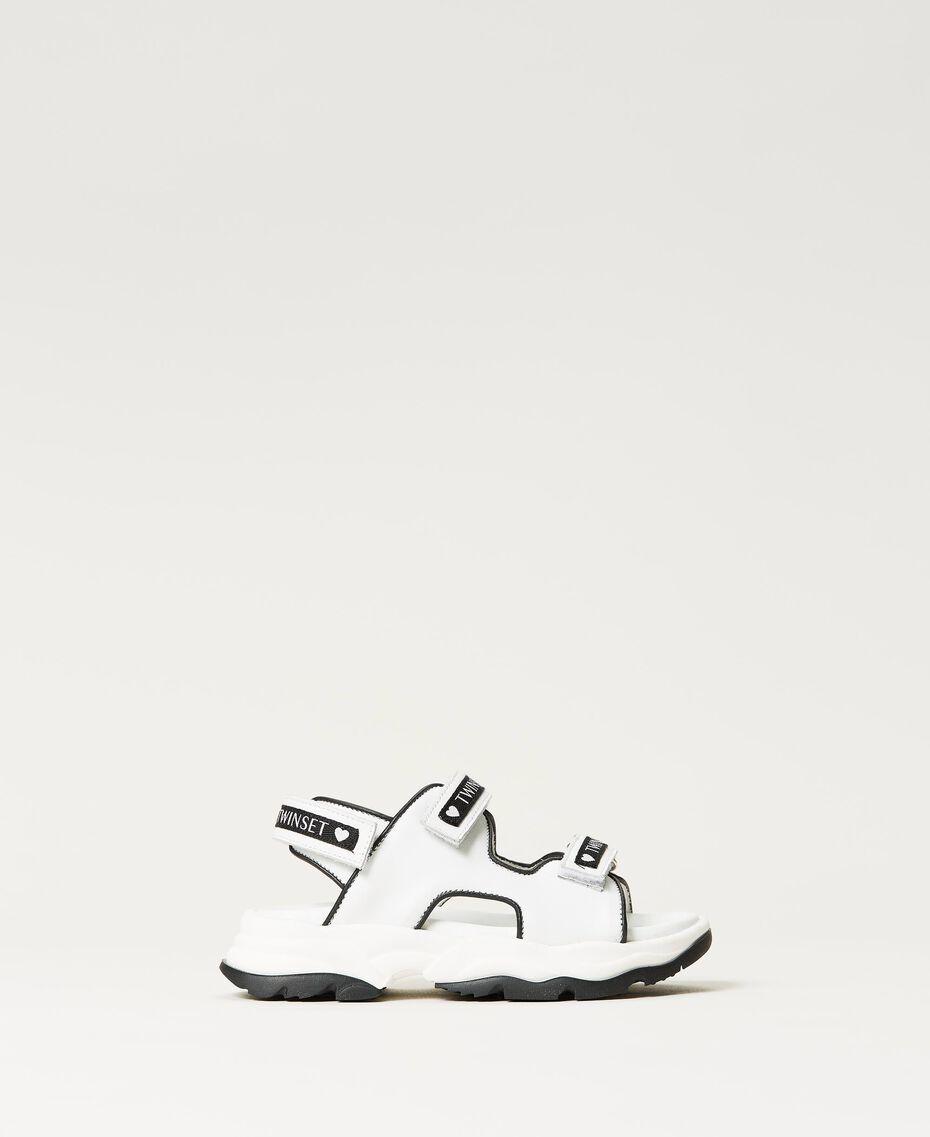Sandalias de piel con logotipo Hueso Niño 211GCJ110-03