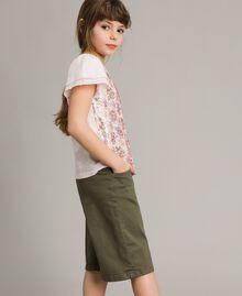 Cotton bull bermuda shorts Tundra Green Child 191GJ2493-03
