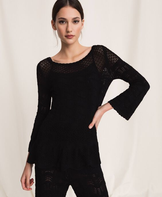 Lace stitch jumper
