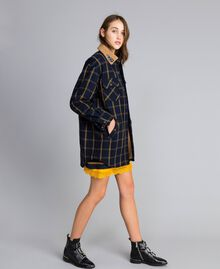 Tartan jacket Bicolor Blue Night / Gold Fancy Tartan Woman YA82EP-02