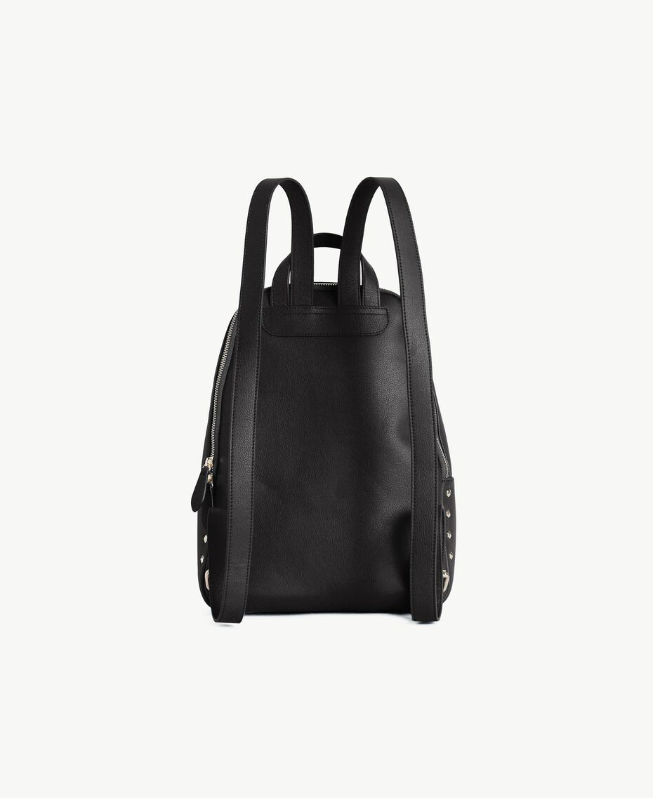 TWINSET Studded backpack Black Woman OS8TBA-03