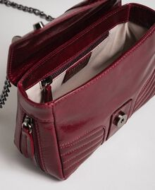 Small Rebel leather shoulder bag Beet Red Woman 192TA7237-05