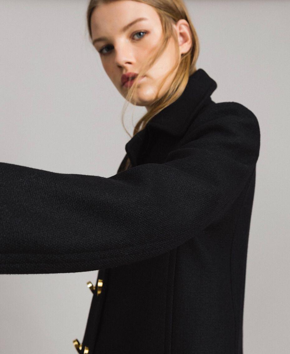 Mantel aus Tuchstoff Schwarz Frau 191MP2461-02