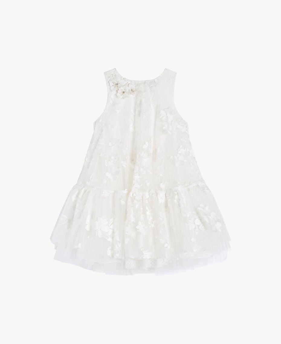 "Tulle dress ""Papers"" White Child GS8LCA-01"