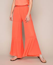 Pleated georgette trousers Antique White Woman 201TT2094-05