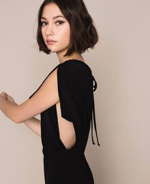 Jumpsuit with side slits Black Woman 201LM2EDD-05