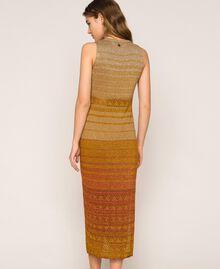 Robe longue rayée en lurex Rayé Multicolore Or Femme 201TT3091-03