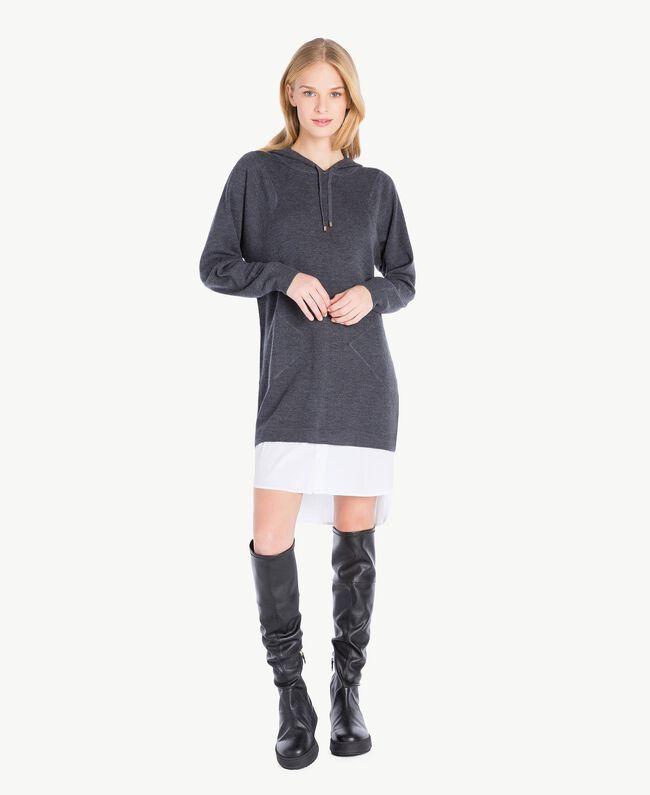 Wool dress Dark Melange Grey / Optical White Female TA73DE-01