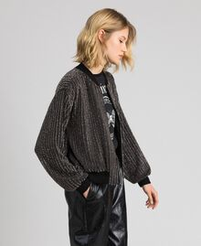 Bomber jacket with sequin embroidery Black Woman 192TP2462-02