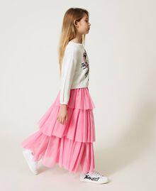 """Long tulle skirt """"Rose Bloom"""" Pink Child 211GJ2271-03"""