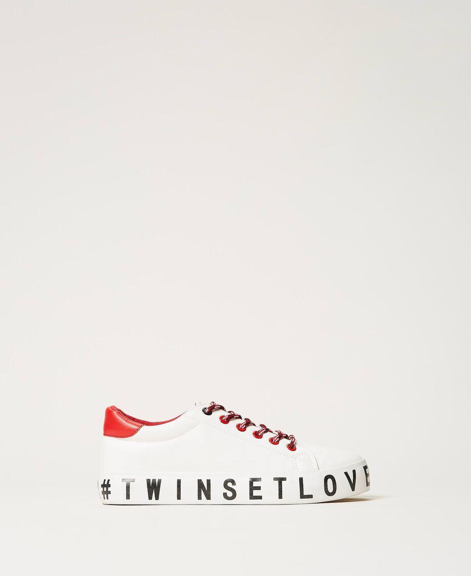 Sneakers mit Logo Weiß Frau 202LIPZCC-01
