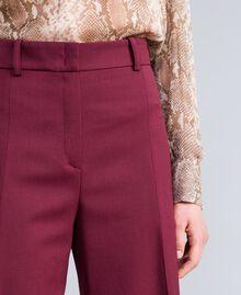 Cool wool cropped trousers Bordeaux Woman PA823N-04