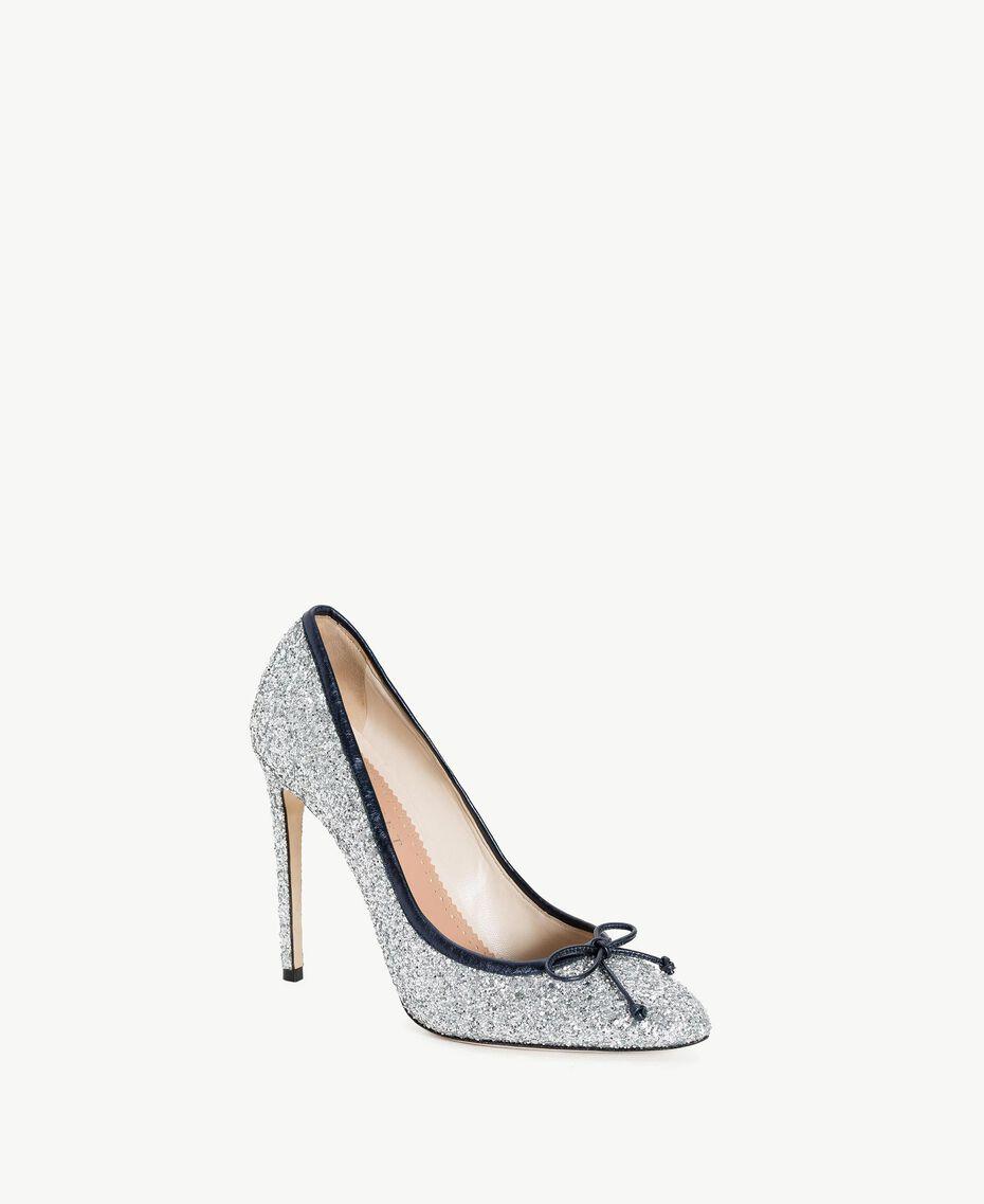 TWINSET Glitter court shoes Silver Woman CS8PLE-02