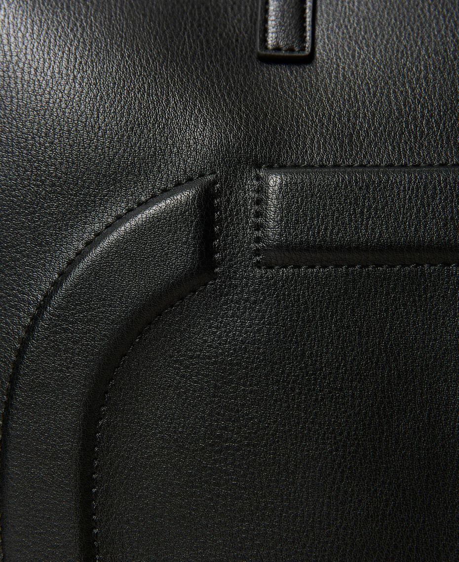 Twinset Bag im Shopperformat mit Logo Schwarz Frau 211TD8080-03