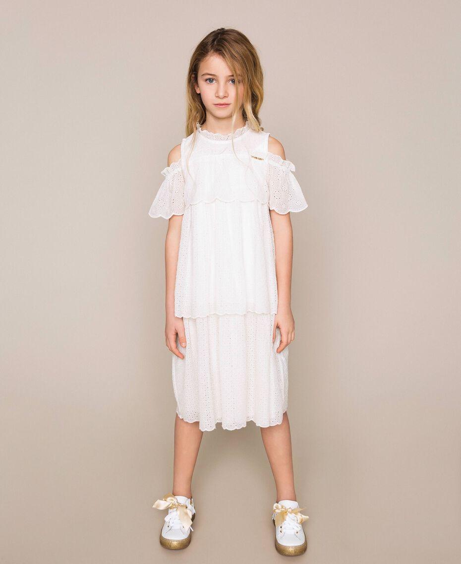Broderie anglaise dress Off White Child 201GJ2QB0-01