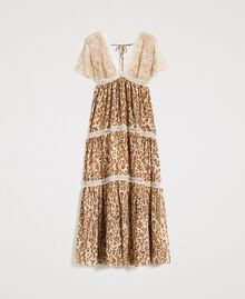 "Animal print long dress ""Petra Sandstone"" Brown Animal Print Woman 191LM2UGG-0S"