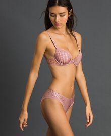 Soutien-gorge push-up à pois Imprimé Petits Pois Rose Pêche Femme 192LI6344-01