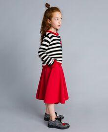 Pullover aus Wollmischung mit Streifenmuster Zweifarbig Schwarz / Off White Kind GA83GA-02