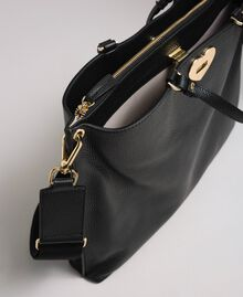 Borsa shopper grande in pelle con tracolla Nero Donna 192TO8090-04