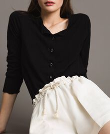 Shorts in misto lino Bianco Neve Donna 191TP2205-04