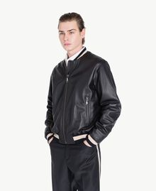 Leather bomber Black Man US82AB-02