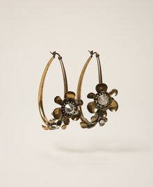 Floral earrings Aged Brass Woman 202TO5051-01