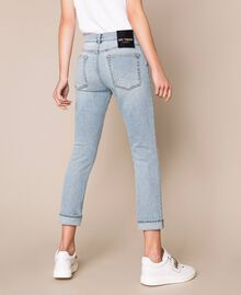 Jeans tomboy con rotture Denim Blue Donna 201MP2274-03