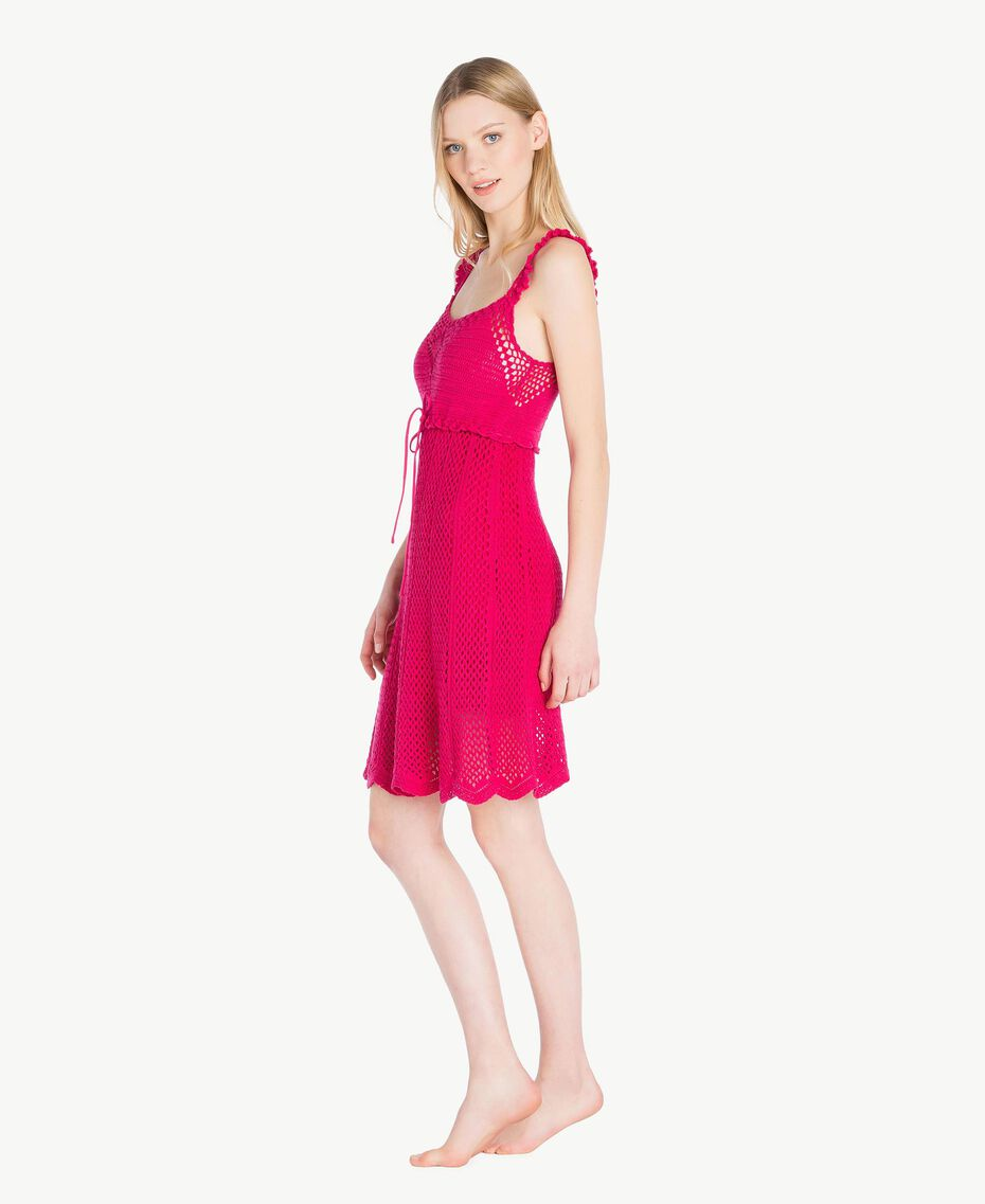 "Crochet dress ""Voluptuous"" Pink Woman MS8HBB-03"