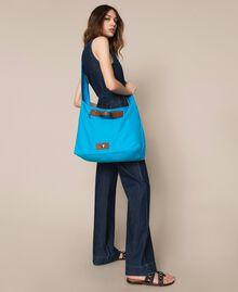 """Canvas shopper with shoulder strap """"Bay"""" Blue Woman 201LM7ZKK-0S"""