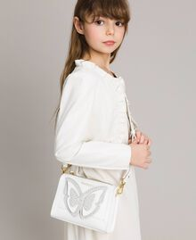 Faux leather shoulder bag with butterfly Off White Child 191GJ799F-0S
